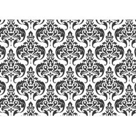 Badmat 52x73 cm. - Barok Zwart/Wit