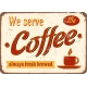 Afdruipmat 49x39 cm. - Retro We serve Coffee