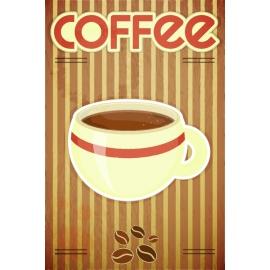Afdruipmat 49x39 cm. - Retro Coffee