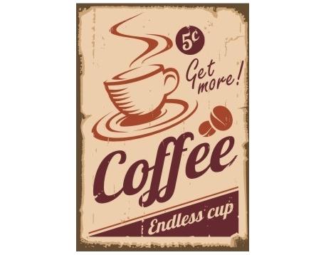 Afdruipmat 49x39 cm. - Retro Get more Coffee