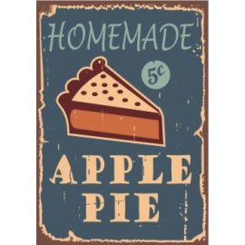 Afdruipmat 50x40 cm. - Retro Apple Pie