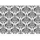 Badmat met fotoprint - super absorberend - Barok Zwart/Wit