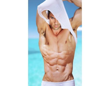 Fitnessmat / Yogamat 120x52 cm. - Man met Sixpack