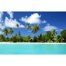 Badmat 52x73 cm. - Paradijs