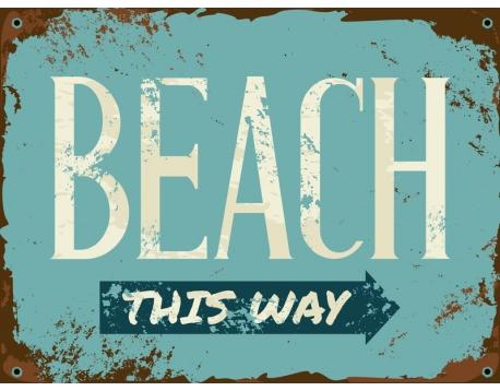 Badmat 52x73 cm. Retro Beach
